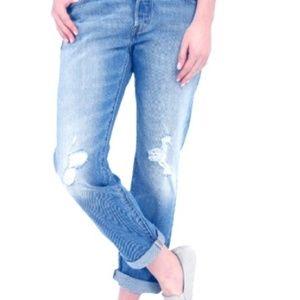 NWOT Levi's 501 CT Boyfriend Cut Distressed Jeans